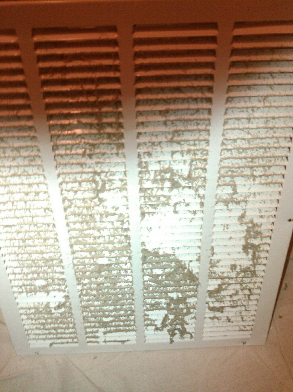 Dirty air grille before cleaning.
